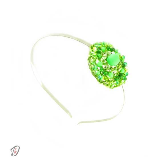 Obroč za lase Neon zelen