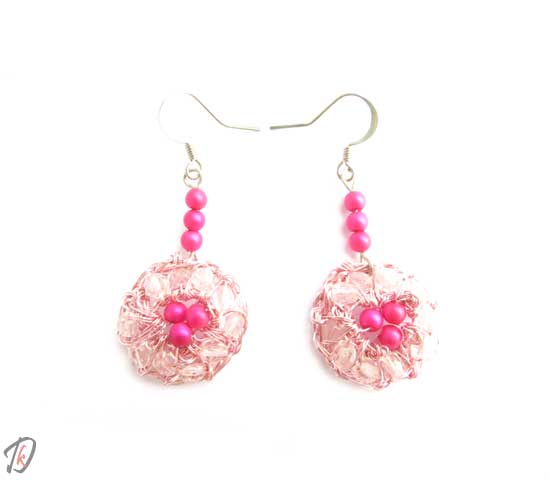 Pink uhani/earrings