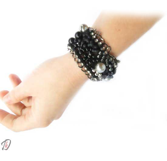 Coralie black zapestnica/bracelet