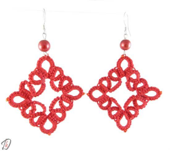 Lace red uhani/earrings