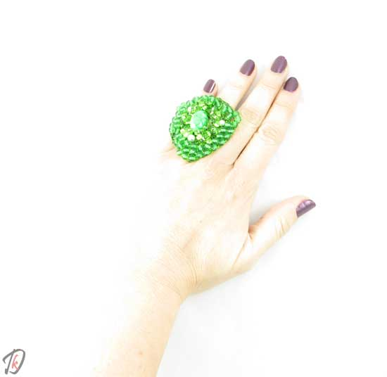 Green triangle prstan/ring