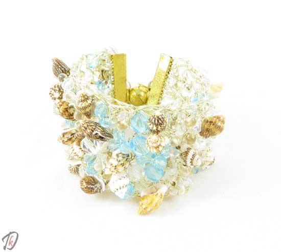Turquoise seashell zapestnica/bracelet