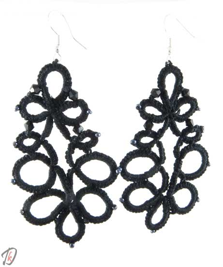 Lace Black uhani/earrings