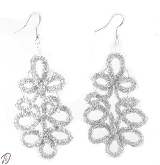 Lace Silver uhani/earrings