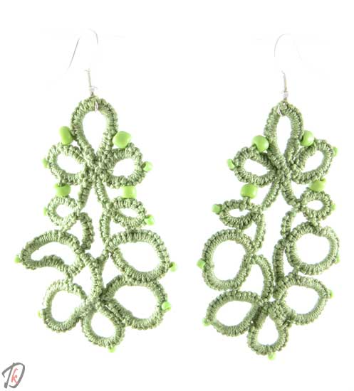 Lace Mint green uhani/earrings