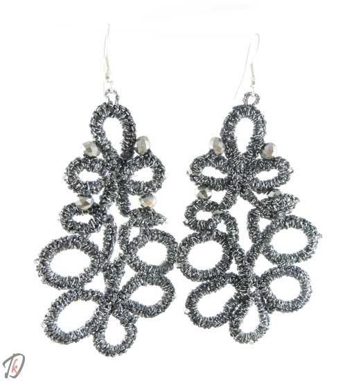 Lace Gray uhani/earrings