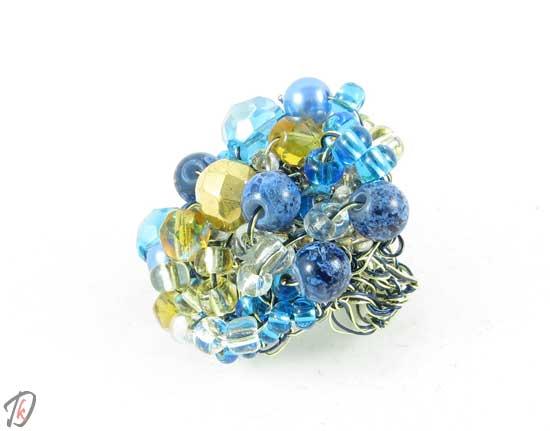Blue rose ring/prstan
