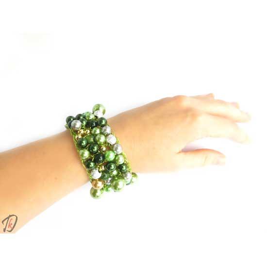 Green bubbles zapestnica/bracelet
