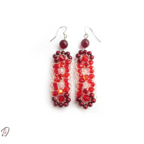 Shiny red uhani/earrings