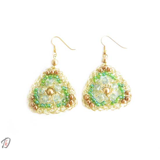 Golden diamond uhani/earrings