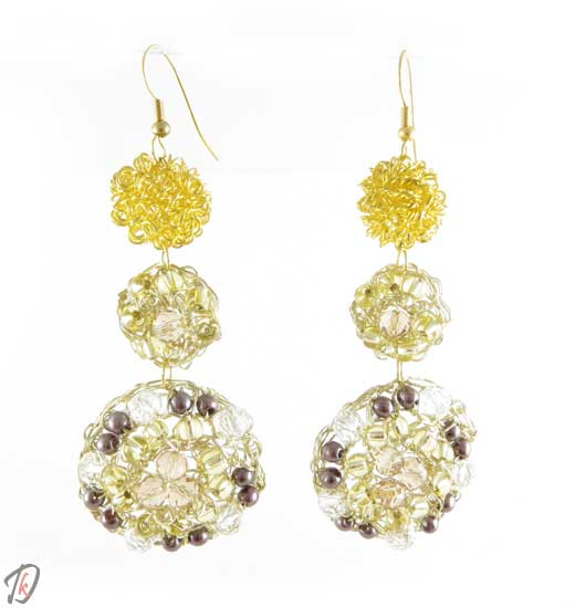 Big gold uhani/earrings