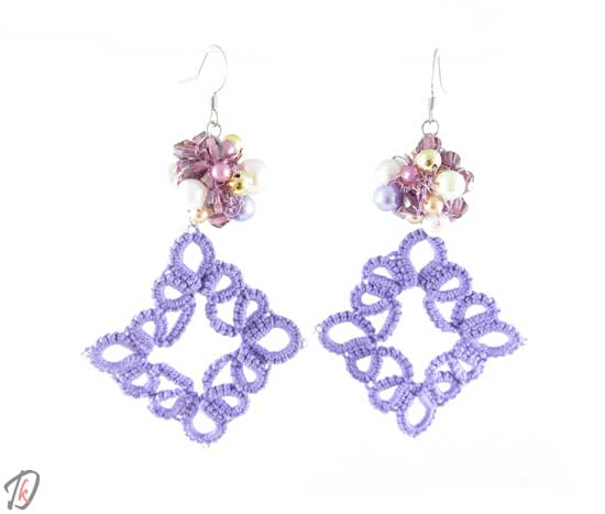 Lace lilac uhani/earrings