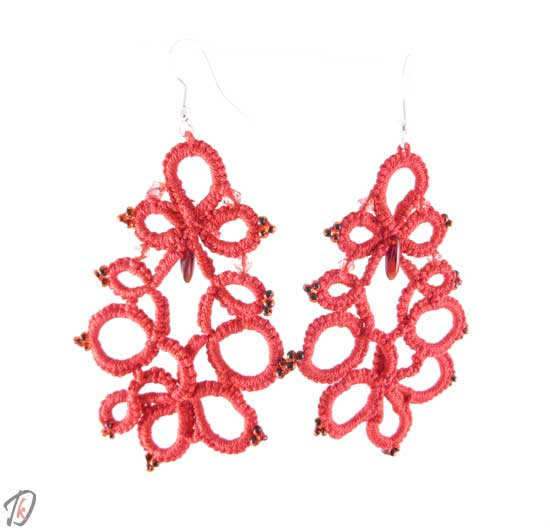 Lace red princess uhani/earrings