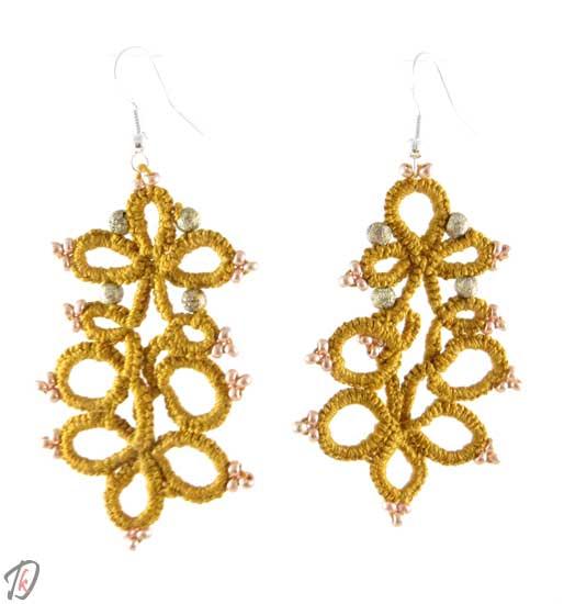 Lace Dark beige uhani/earrings
