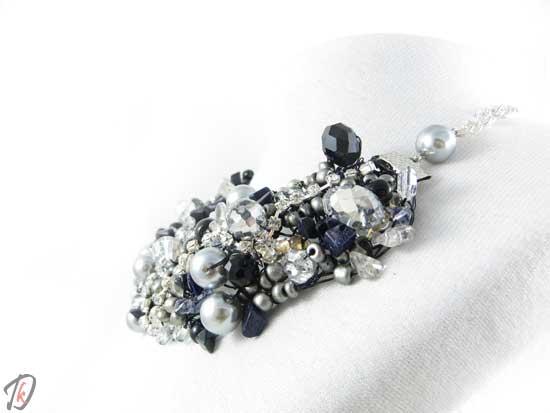 Black Rose necklace/ogrlica