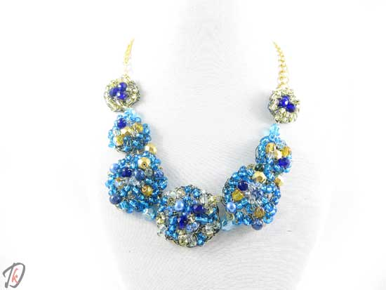 Blue Rose necklace/ogrlica