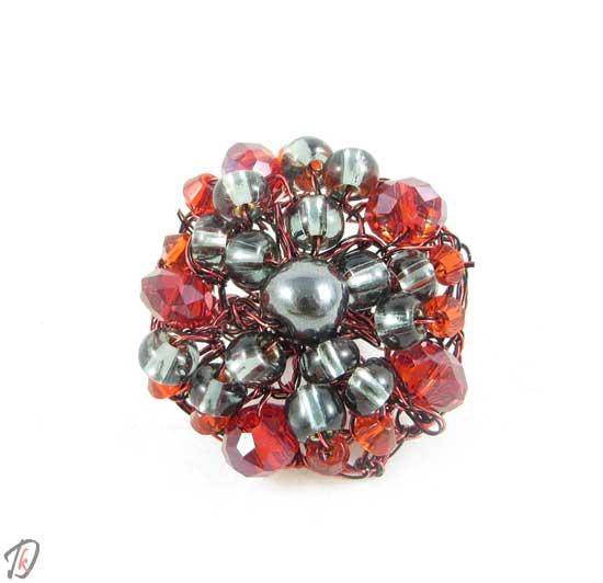 Red crystal ring/prstan