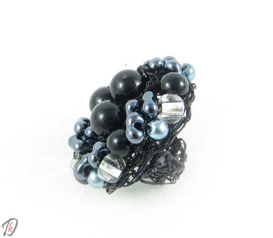 Black and gray ring/prstan